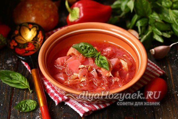 Как приготовить борщ со свеклой, чтобы он был красный — пошаговый рецепт