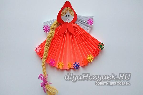 бумажная кукла Масленица