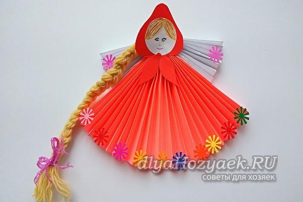 Кукла Масленица из бумаги