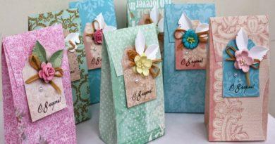 праздничные упаковки на 8 марта