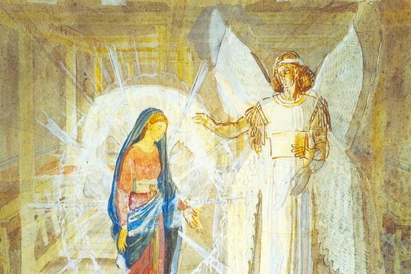 Дух и дева Мария