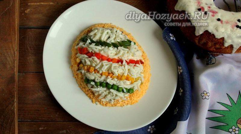 Салат «Пасхальное яйцо» — пошаговые рецепты на Пасху 2020