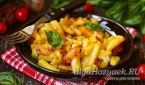 Миниатюра к статье Жареная картошка с луком на сковороде: 7 лучших рецептов с фото